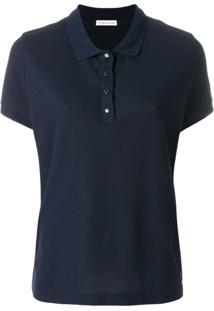 Moncler Camisa Polo Clássica - Azul
