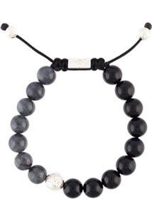 Nialaya Jewelry Pulseira De Ágata E Jade - Preto