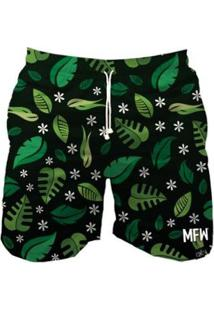 Short Tactel Maromba Fight Wear Leaves Com Bolsos Masculina - Masculino-Preto+Verde