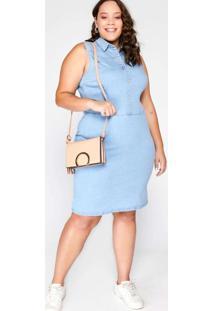 Vestido Almaria Plus Size Blubetty Jeans Azul