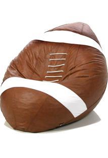 Puff Big Ball Futebol Americano Pop Cipaflex Caramelo Stay Puff Caramelo