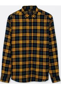Camisa Manga Longa Flanela Em Xadrez