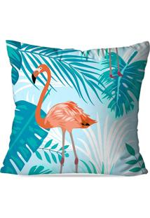 Capa De Almofada Love Decor Avulsa Flamingo Blue Multicolorido - Kanui