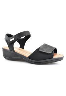 Sandália Casual Feminina Ultra Conforto Comfort Flex 88403 Comfortflex Preto
