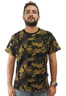 Camiseta 9D5 Incorporation Camuflada Verde Amarelado