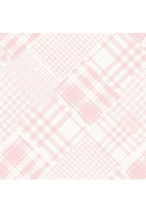 Papel De Parede Lymdecor Coleção Infantário Pied-Poule 1715 Bobinex Rosa