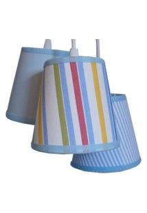 Luminária Menino Crie Casa Azul E Branco