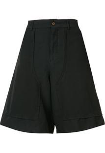 Comme Des Garçons Homme Plus Bermuda Pantalona Saruel - Preto