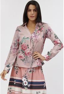 Blusa Floral - Verde & Rose - Estilo Hestilo H