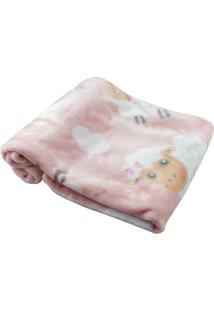 Cobertor Para Bebê Salmão Ovelhinha Hetruria Salmão