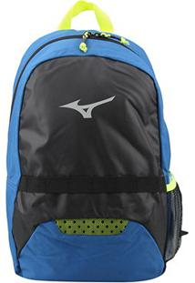 Mochila Mizuno Player Fit - Unissex-Preto+Azul