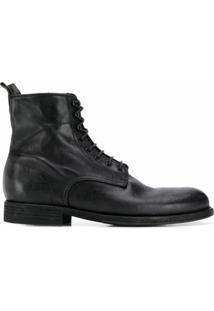 Pantanetti Ankle Boot Com Cadarço - Preto