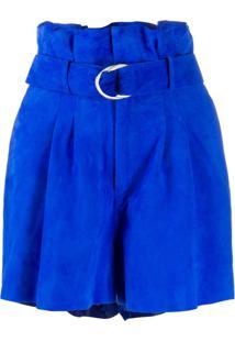 P.A.R.O.S.H. Belted Waist Shorts - Azul