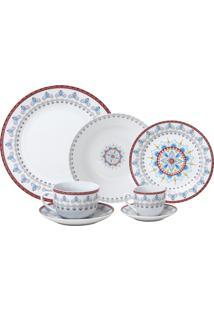 Aparelho De Jantar De Porcelana Super White Upper Wolff – 42 Peças