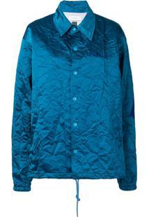 Facetasm Crinkle-Effect Jacket - Azul