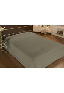 Cobertor Solteiro Microfibra Liso 1,50X2,20M Bege - Camesa