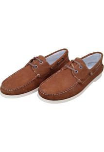 Mocassim Navit Shoes Docksider Caramelo