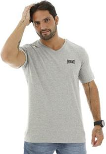 Camiseta Algodão Básica Masculino - Masculino-Cinza