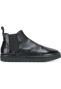 Marsèll Ankle Boot Slip On De Couro - Preto