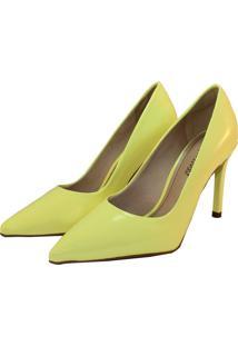Scarpin Tatiane Moreira Amarelo Neon