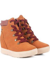 Tênis Dakota Sneakers Cano Médio Feminino - Feminino-Caramelo