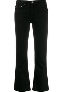 Victoria Victoria Beckham Calça Jeans Cropped Flare - Preto