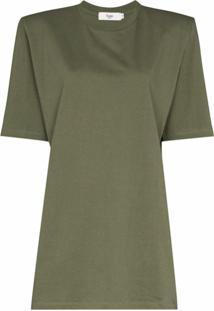 Frankie Shop Vestido Reto Sean Com Ombros Estruturados - Verde