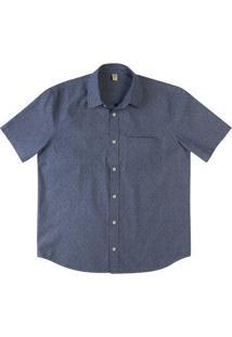 Camisa Manga Curta Slim Masculina Em Algodão Estampada