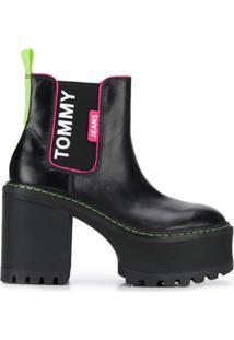 Tommy Jeans Bota Plataforma - Preto