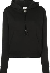 Saint Laurent Hardware Drawstring Hoodie - Preto