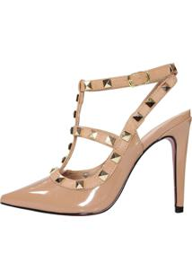 Scarpin Salto Alto Week Shoes Inspired Nude Spikes