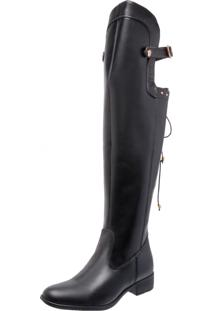 Bota Over Knee Mega Boots 977 Preto