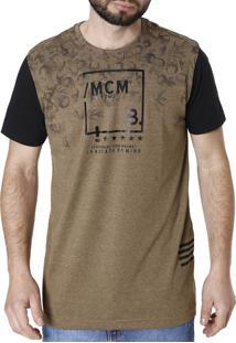 Camiseta Bgo Manga Curta Marrom