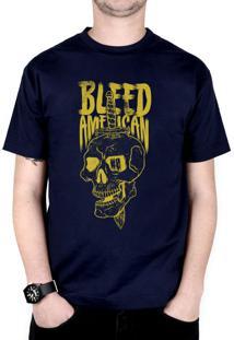 Camiseta Bleed American Bope Azul-Marinho