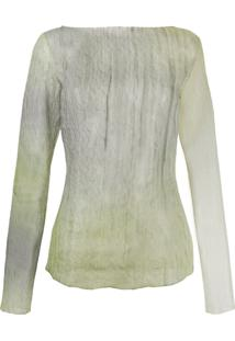 Nina Ricci Crinkled Effect Blouse - Verde