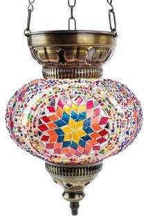 Luminária Turca C/ Mosaico 28X16Cm