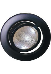 Spot Dicróica Dirigível Aço Com Pintura Eletrostática Mr16 50W 127V Preto