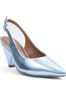 Sapato Morena Rosa Chanel Fivela Personalizada Azul - 38