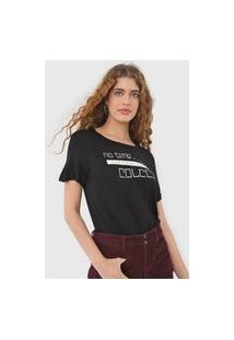 Camiseta Colcci No Time Preta