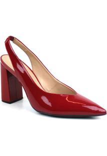 Scarpin Verniz Emporionaka Feminino - Feminino-Vermelho