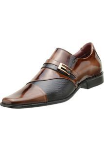 Sapato Goffer Social - Masculino-Marrom