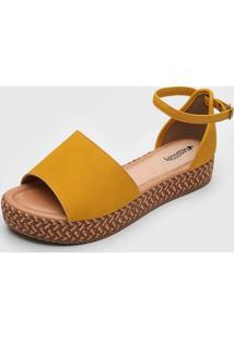 Sandã¡Lia Mississipi Cordas Amarela - Amarelo - Feminino - Dafiti
