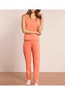 Pijama Longo Regata Lupo (24113-001) 100% Algodão