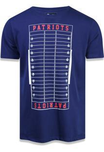Camiseta New Era Regular New England Patriots Marinho