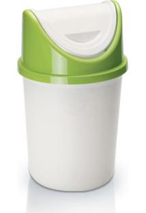 Lixeira Para Cozinha Banheiro Fenix Plã¡Stico 4.2 Litros - Transparente - Dafiti