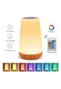 Abajur Touch Night Light - Lâmpadas De Cabeceira Ou Mesa Com Usb 13 Cores - Branco