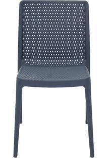 Cadeira Isabelle Pp E Fibra De Vidro Azul Tramontina