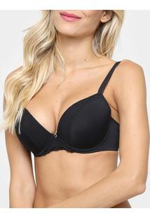 Sutiã Liz Com Bojo Push Up Feel Soft - Feminino-Preto