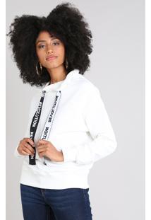 ca973d9b9a CEA. Blusão Clock Feminino Branco Off White Estampado ...