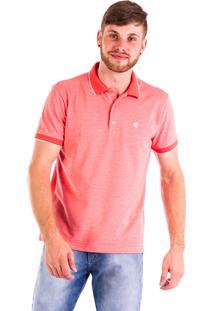 Camisa Polo Carlan Logo Coral